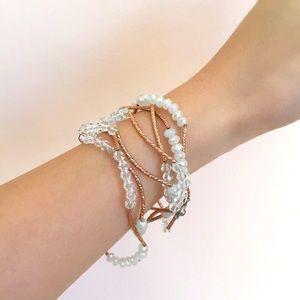Wrap around beads bracelet